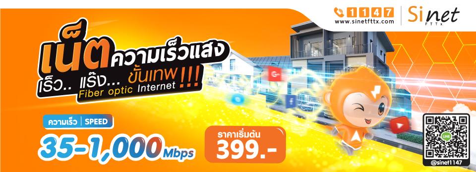 โปรเน็ต sinet Ais dtac true 3bb Fttx fiber optic ไฟเบอร์ 399
